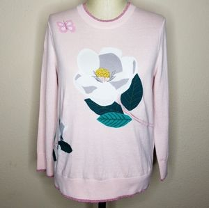 kate spade Sweaters - Kate Spade Broome Street Flower Sweater Cameopink